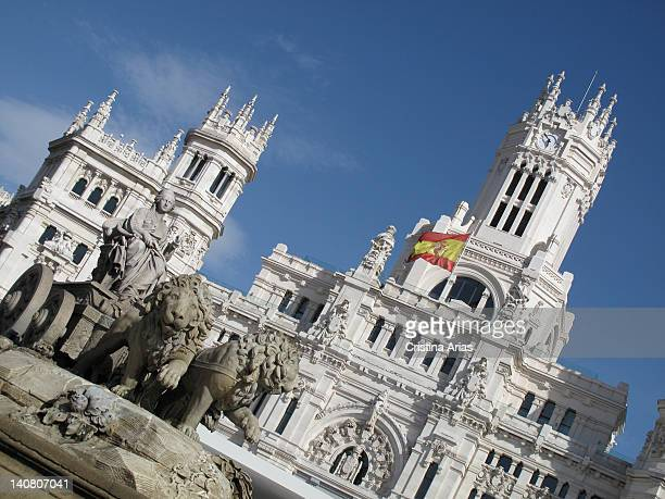 Madrid City Hall and Cibeles Fountain off during the celebration of World Youth Day in Madrid August 2011