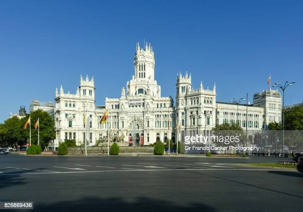 Madrid City Hall and Cibeles Fountain on Cibeles square, Madrid, Spain