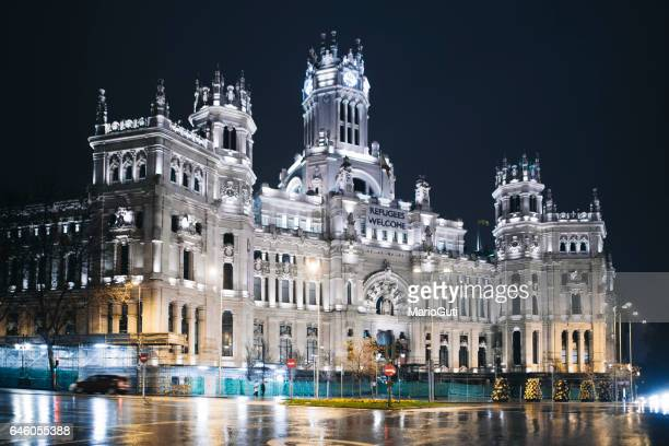 Madrid City Hall at night