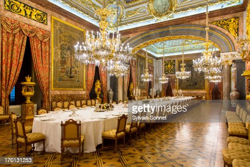 madrid dining room in royal palace stock photo | getty images