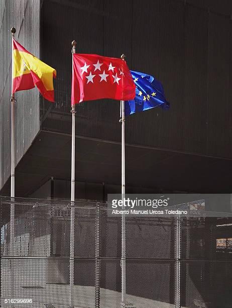 Madrid, Flags (Madrid, Spanish and Europe)