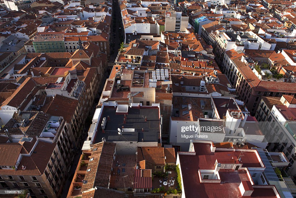 Madrid from the sky : Stock Photo