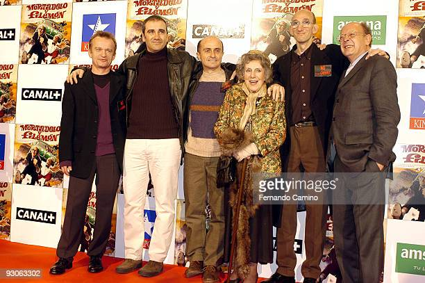 060203 Madrid Kinepolis cinemas Preview of the movie Mortadelo and Filemon based on the characters of cartoonist Francisco Ibanez Pepe Viyuela that...