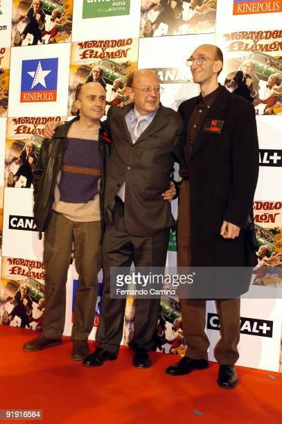 060203 Madrid Kinépolis cinemas Preestreno of the film Mortadelo and Filemón based on the personages of the sketcher Francisco Ibáñez Francisco...