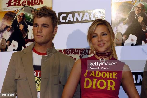 060203 Madrid Kinépolis cinemas Preestreno of the film Mortadelo and Filemón based on the personages of the sketcher Francisco Ibáñez Fonsi Grandson...