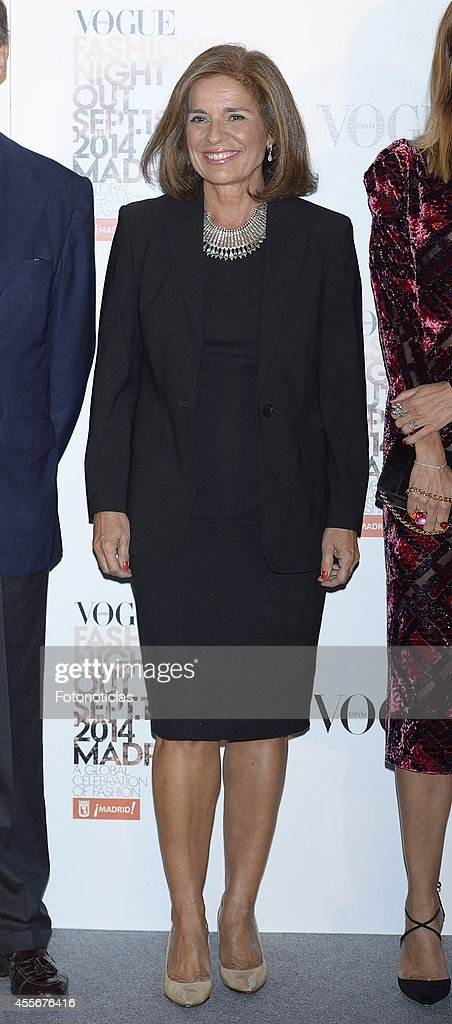 Madrid Mayor Ana Botella attends the Vogue Fashion's Night Out Madrid 2014 on September 18 2014 in Madrid Spain