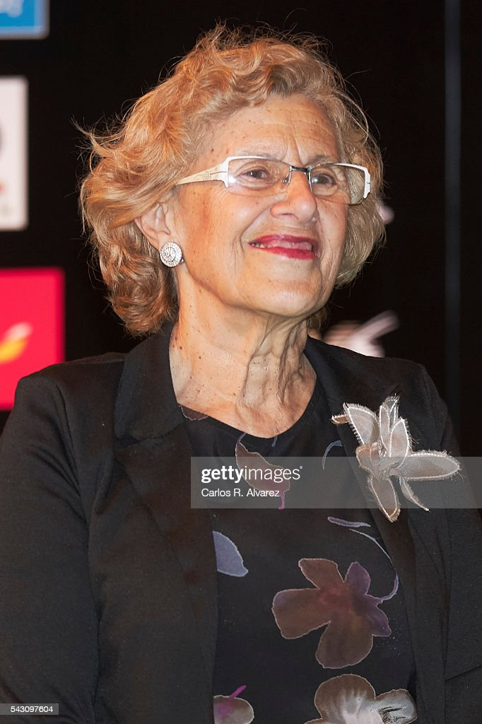 Madrid Mayor <a gi-track='captionPersonalityLinkClicked' href=/galleries/search?phrase=Manuela+Carmena&family=editorial&specificpeople=6089556 ng-click='$event.stopPropagation()'>Manuela Carmena</a> attends the 17th IIFA Awards (International Indian Film Academy Awards) at Ifema on June 25, 2016 in Madrid, Spain.
