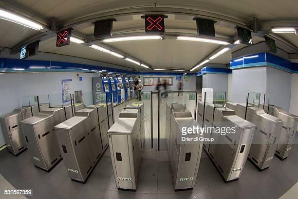 Madrid Metro, optical ticket turnstiles.