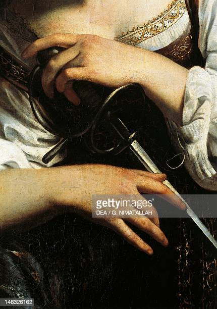 Madrid Museo ThyssenBornemisza St Catherine of Alexandria Michelangelo Merisi known as Caravaggio oil on canvas 173x133 cm Detail