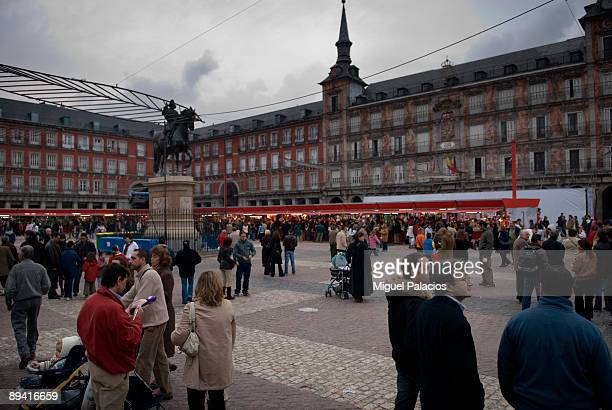 Madrid Plaza Mayor Christmas street market
