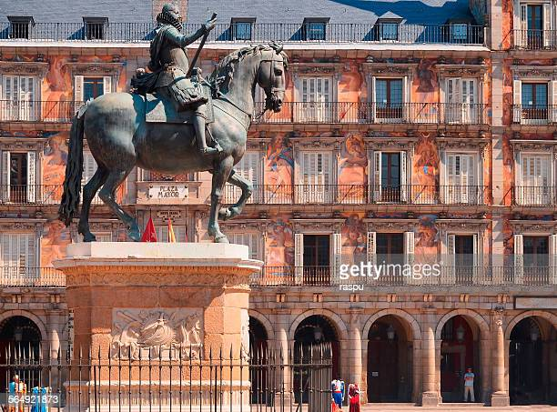Madrid, Plaza Mayor square and Felipe III