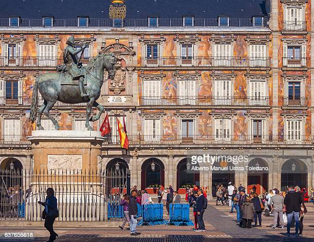 Madrid, Plaza Mayor square - Panaderia House and Philip III