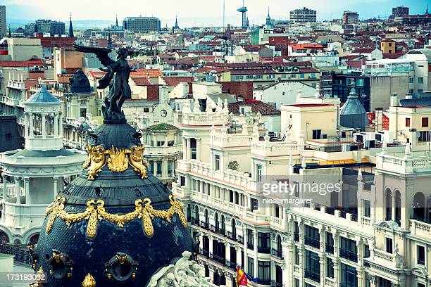 Madrid:  Rooftops from the Gran Via