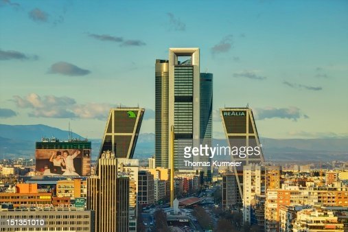 Madrid skyline : Stock Photo