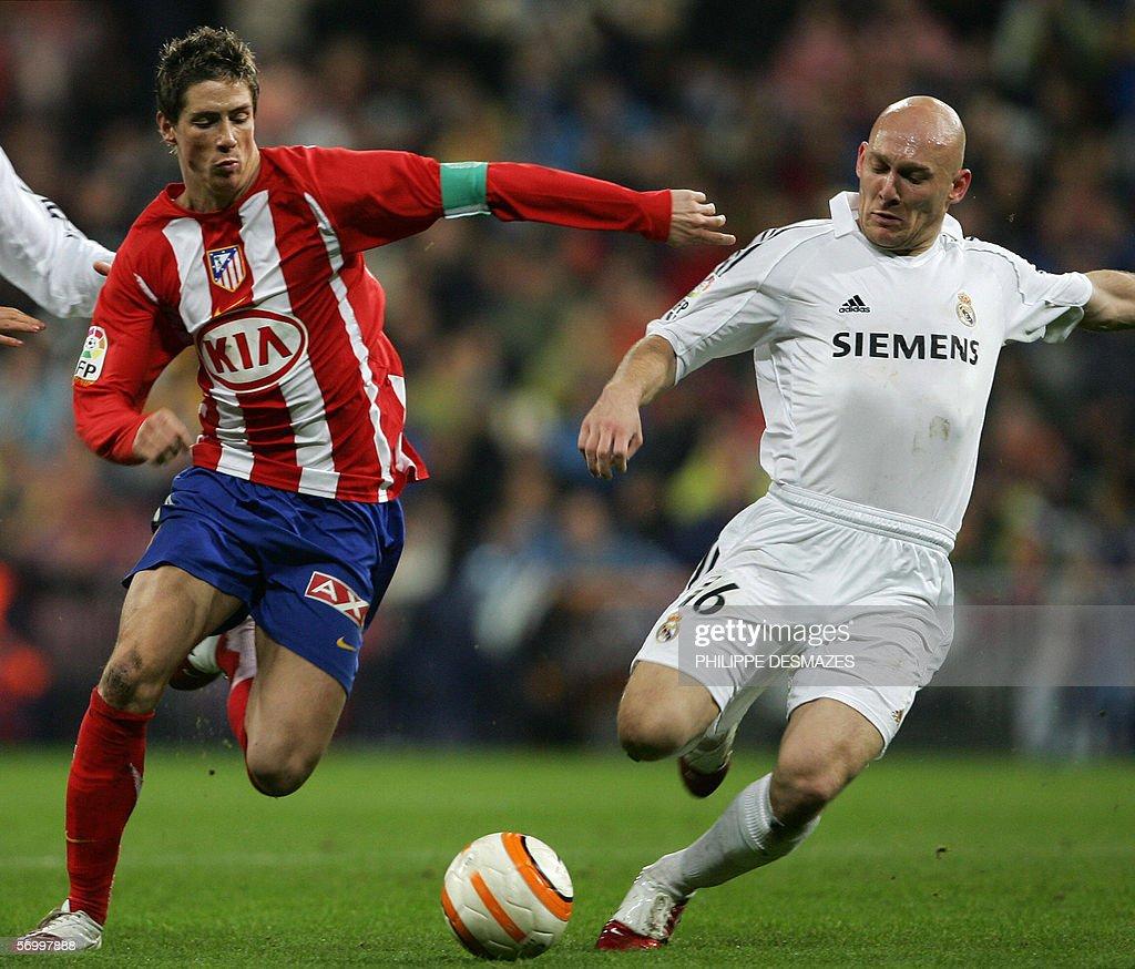 Athletico Madrid s Fernando Torres L v