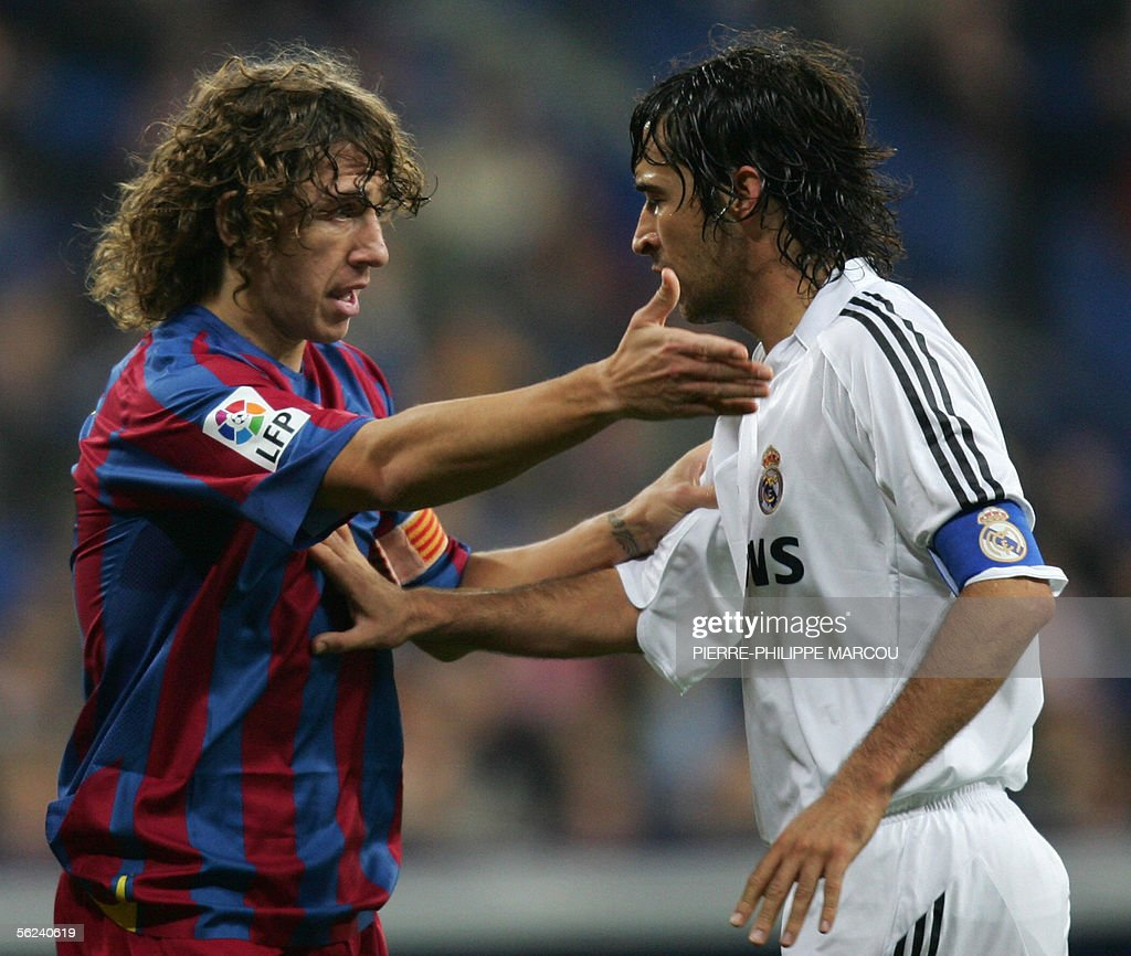 Barcelona s Carles Puyol L and Real Ma