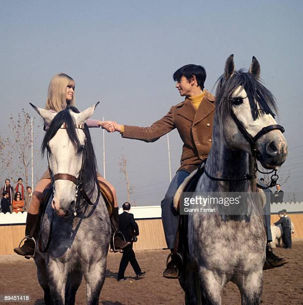 1968 Madrid Spain The singer and actress Marisol during the filming of the film 'Volver a empezar' with the bullfighter Palomo Linares