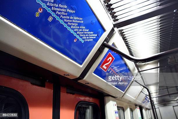 Madrid subway Inside a wagon Indicative panels