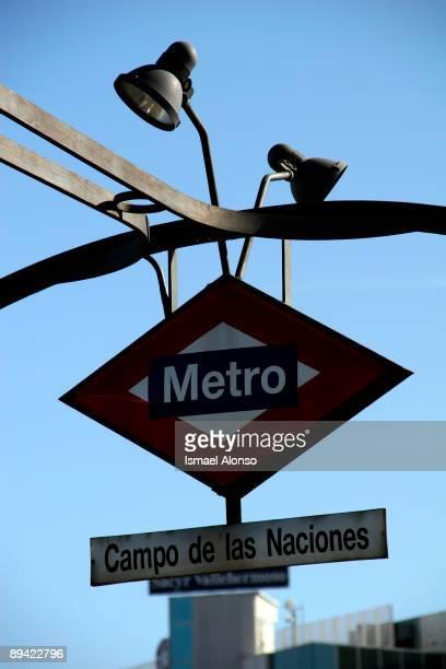 Madrid subway Metro logo
