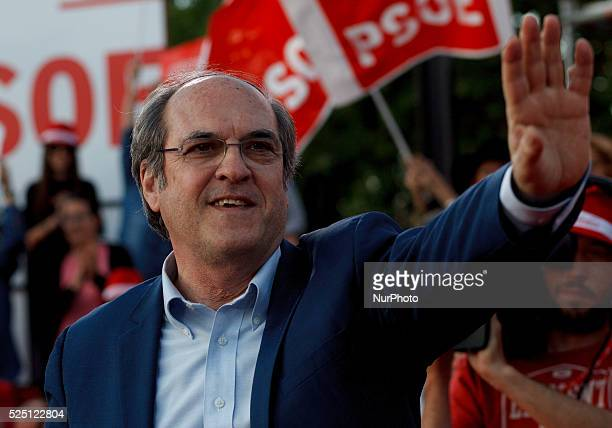 The socialist candidate for the community of Madrid Angel Gabilondo during the final campaign meeting in Madrid on May 22 2015