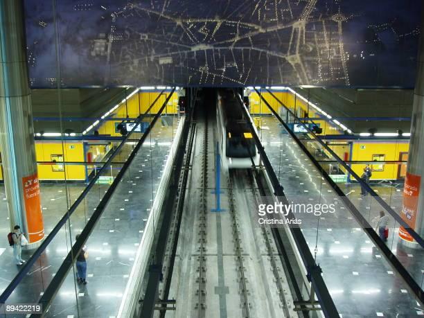 Madrid underground Barajas airport station