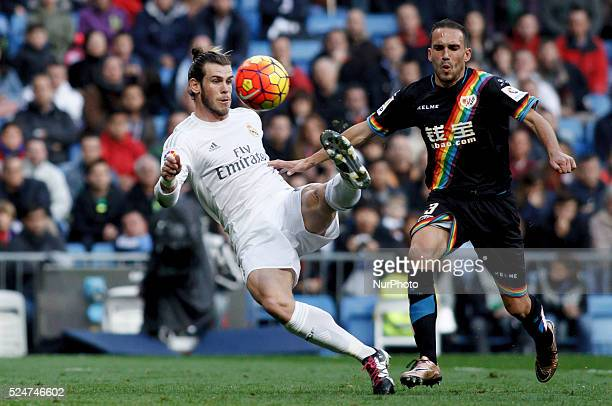 Real Madrid's Welsh forward Gareth Bale during the Spanish League 2015/16 match between Real Madrid and Rayo Vallecano at Santiago Bernabeu Stadium...