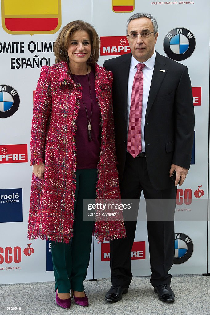Madrid's major Ana Botella and President of Spain's Olympic Committee Alejandro Blanco attend Spanish Olympic Commitee Centenary Gala at El Canal...