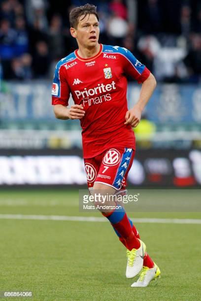 Mads Albæk of IFK Goteborg during the Allsvenskan match between GIF Sundsvall and IFK Goteborg at Idrottsparken on May 22 2017 in Sundsvall Sweden