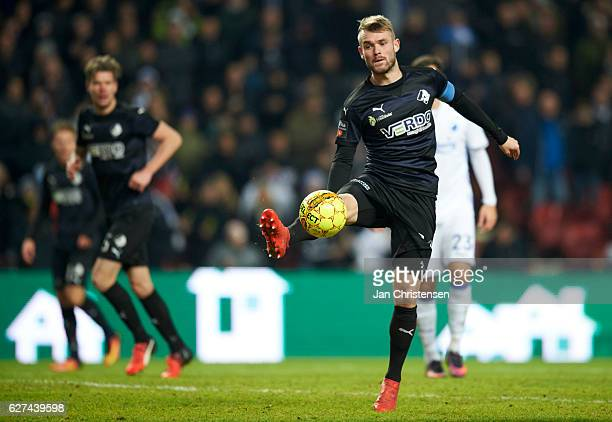 Mads Fenger of Randers FC in action during the Danish Alka Superliga match between FC Copenhagen and Randers FC at Telia Parken Stadium on December...