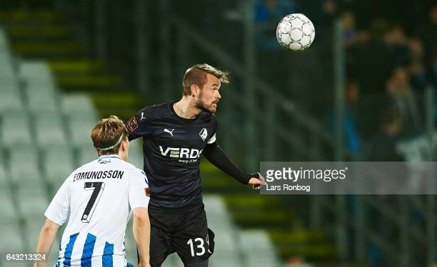 Mads Fenger of Randers FC in action during the Danish Alka Superliga match between OB Odense and Randers FC at EWII Park on February 20 2017 in...