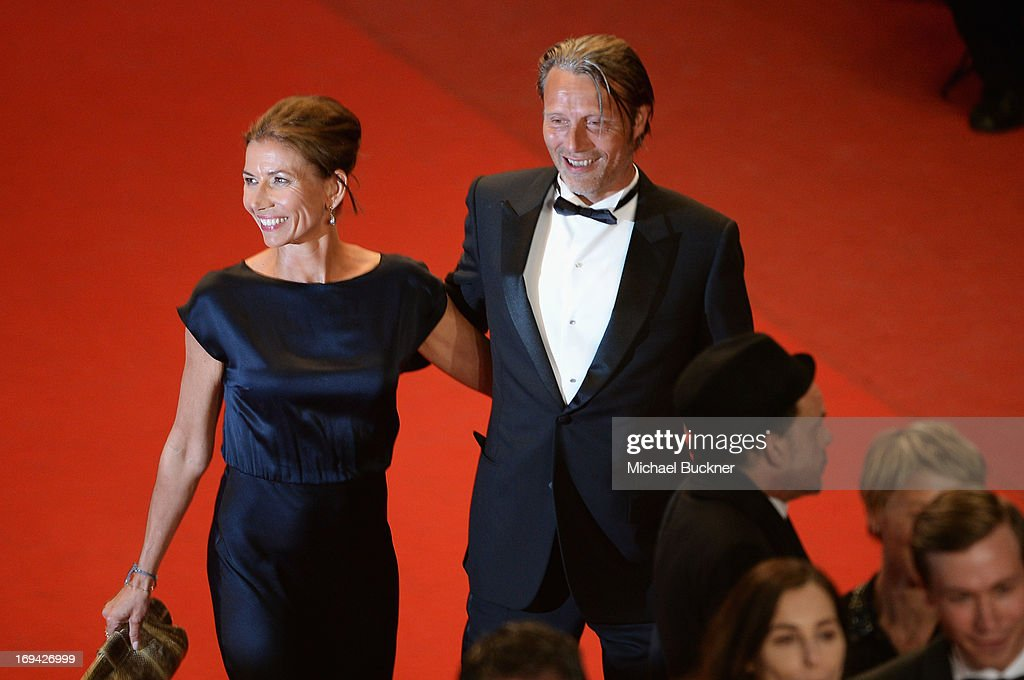 Mads Mikkelsen and Hanne Jacobsen attend the 'Michael Kohlhaas' premiere during The 66th Annual Cannes Film Festival at the Palais des Festival on May 24, 2013 in Cannes, France.
