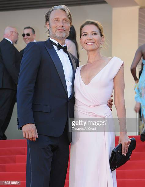 Mads Mikkelsen and Hanne Jacobsen attend the 'Zulu' Premiere and Closing Ceremony during the 66th Annual Cannes Film Festival at the Palais des...