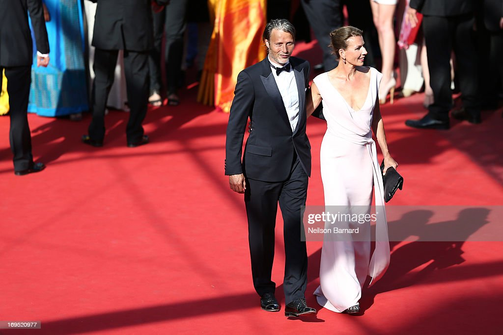 Mads Mikkelsen and Hanne Jacobsen attend the 'Zulu' Premiere and Closing Ceremony during the 66th Annual Cannes Film Festival at the Palais des Festivals on May 26, 2013 in Cannes, France.