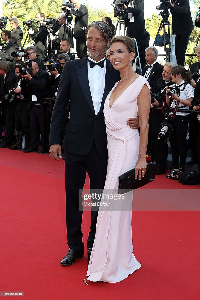 Mads Mikkelsen and Hanne Jacobsenattend the 'Zulu' Premiere and Closing Ceremony during the 66th Annual Cannes Film Festival at the Palais des Festival on May 26, 2013 in Cannes, France.