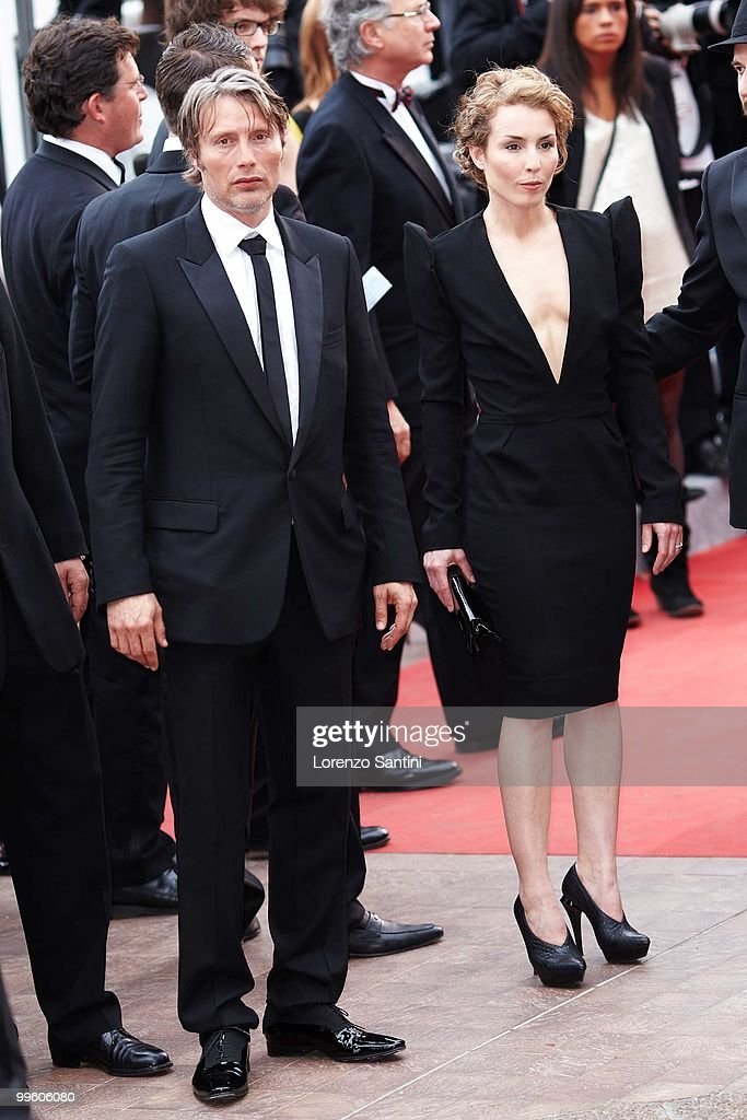 Mads Mikkelsen and Noomi Rapace depart the 'The Princess of Montpensier' Premiere held at the Palais des Festivals of Cannes on May 16 2010 in Cannes...