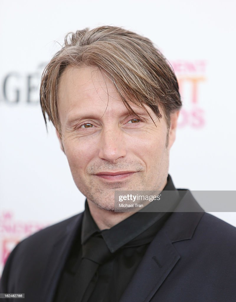 Mads Mikkelsen arrives at the 2013 Film Independent Spirit Awards held on February 23, 2013 in Santa Monica, California.