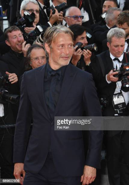 Mads Mikkelsen attends the 70th anniversary event during the 70th annual Cannes Film Festival at Palais des Festivals on May 23 2017 in Cannes France