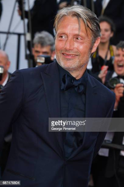Mads Mikkelsen attends the 70th Anniversary screening during the 70th annual Cannes Film Festival at Palais des Festivals on May 23 2017 in Cannes...