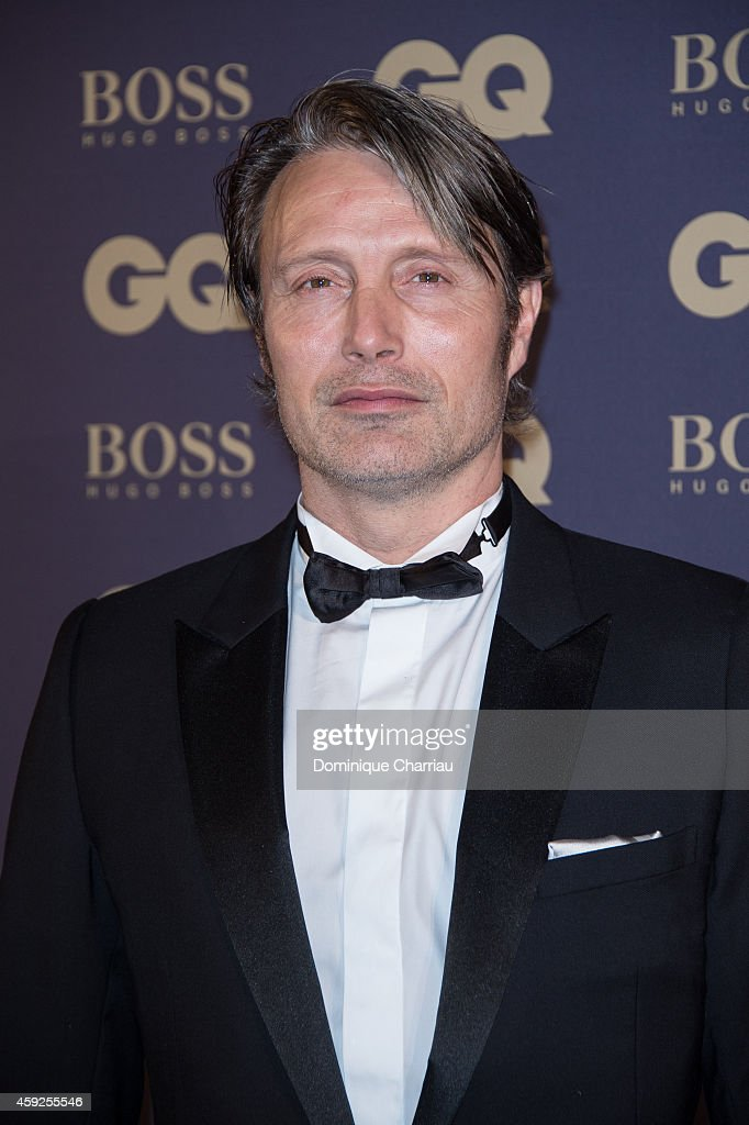 Mads Mikkelsen attends the GQ Men Of The Year Awards 2014 Photocall In Paris at Musee d'Orsay on November 19, 2014 in Paris, France.