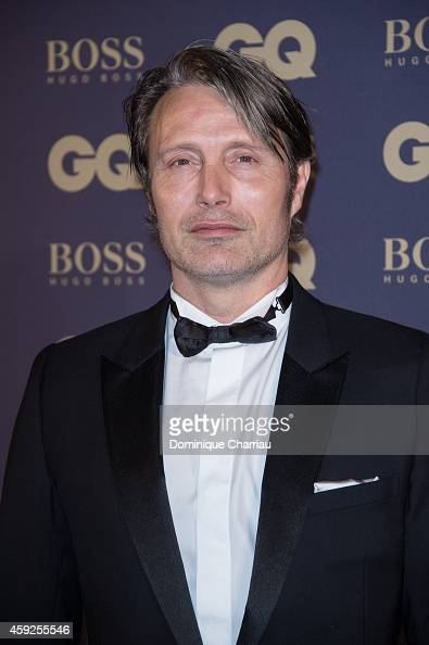 Mads Mikkelsen attends the GQ Men Of The Year Awards 2014 Photocall In Paris at Musee d'Orsay on November 19 2014 in Paris France