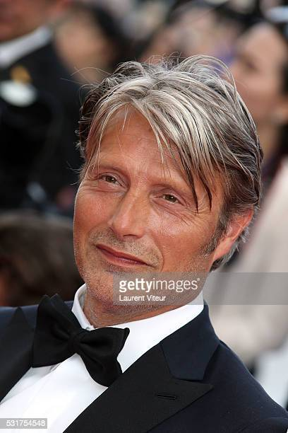 Mads Mikkelsen attends the 'Loving' premiere during the 69th annual Cannes Film Festival at the Palais des Festivals on May 16 2016 in Cannes