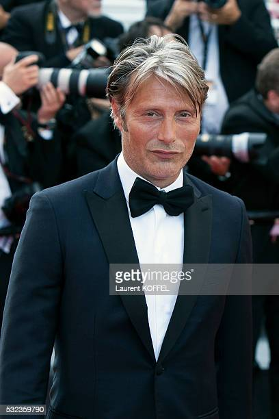 Mads Mikkelsen attends the 'Loving' red carpet arrivals during the 69th annual Cannes Film Festival at the Palais des Festivals on May 16 2016 in...