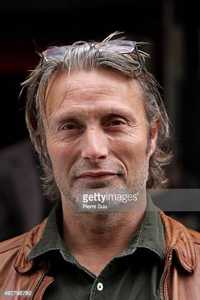 Mads Mikkelsen attends the 'Mads Mikkelsen's Master Class' Presentation at Odeon Comedie Theater as part of the 7th Film Festival Lumiere on October...