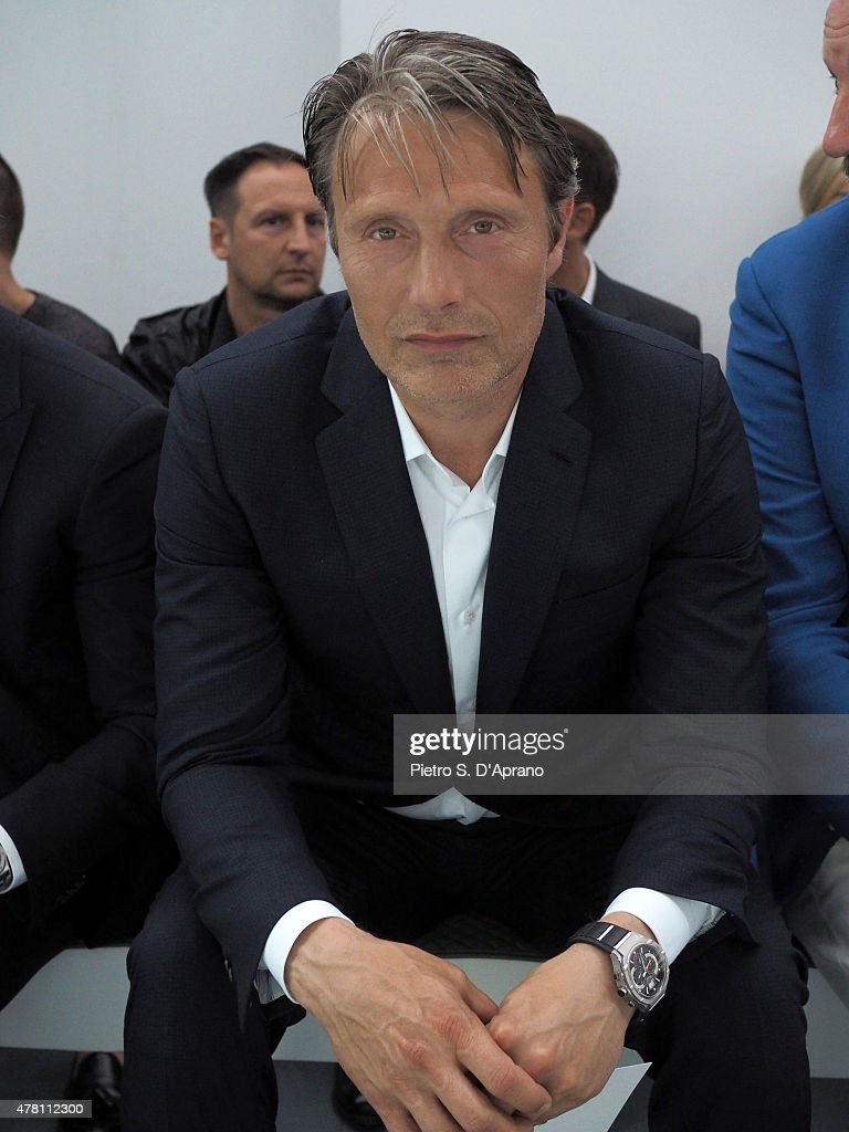 Mads Mikkelsen attends the Marcelo Brioni show during the Milan Men's Fashion Week Spring/Summer 2016 on June 22 2015 in Milan Italy