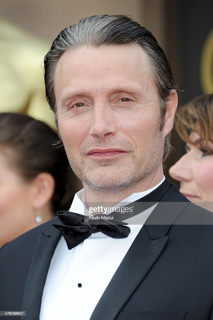 Mads Mikkelsen attends the Oscars held at Hollywood & Highland Center on March 2, 2014 in Hollywood, California.