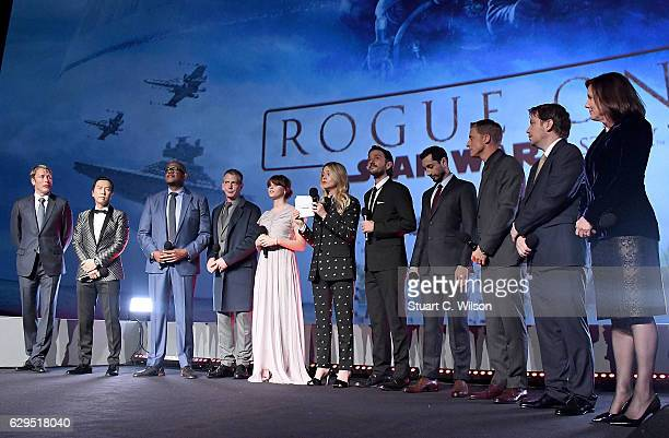 Mads Mikkelsen Donnie Yen Forest Whitaker Ben Mendelsohn Felicity Jones Edith Bowman Diego Luna Riz Ahmed Alan Tudyk Gareth Edwards and Kathleen...