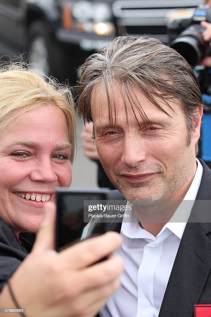 Mads Mikkelsen is seen arriving at the 2014 Film Independent Spirit Awards on March 01, 2014 in Los Angeles, California.