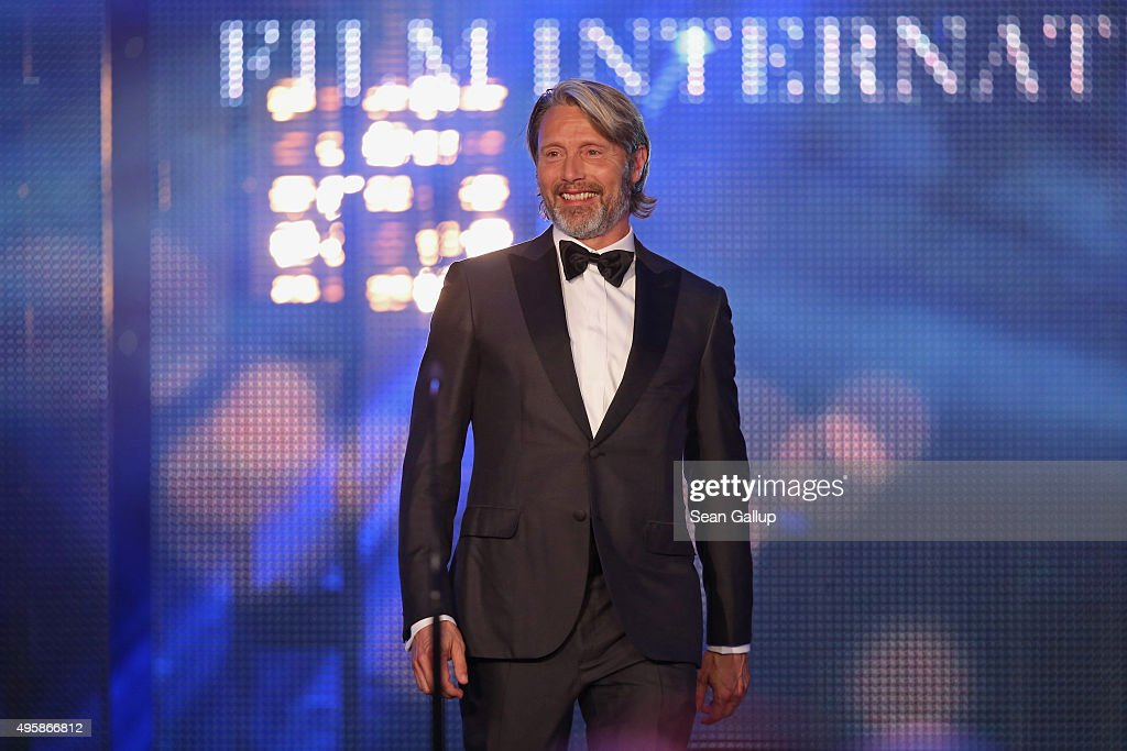 Mads Mikkelsen is seen on stage at the GQ Men of the year Award 2015 show (german: GQ Maenner des Jahres 2015) at Komische Oper on November 5, 2015 in Berlin, Germany.