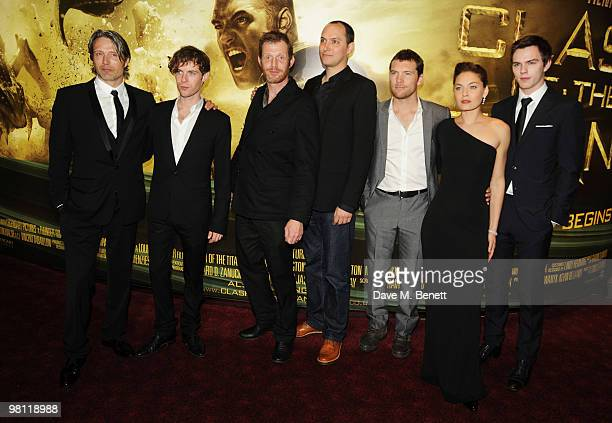 Mads Mikkelsen Luke Treadaway Jason Flemyng Louis Leterier Sam Worhington Alexa Davalos and Nicholas Hoult arrive at the World premiere of 'Clash Of...