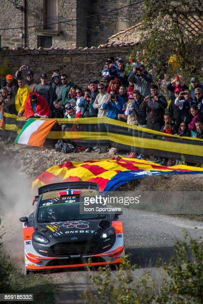 Mads Ostberg and codriver Torstein Eriksen of MSport World Rally Team compete during the Savalla Stage of the Rally de Espana round of the 2017 FIA...